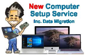 Laptop Computer Setup Service